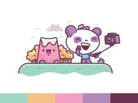 Selfie Panda Loves Selfies