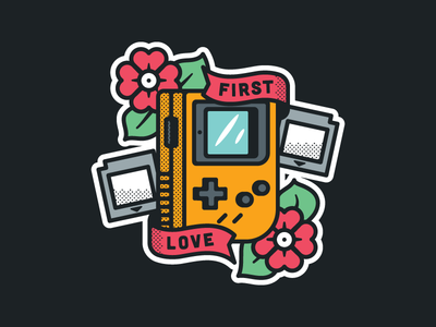 First Love nintendo game sticker illustration love first tattoo gameboy