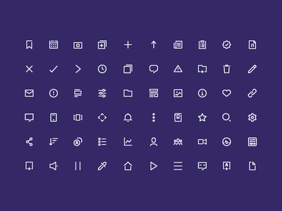 Gloo Iconography tiny small pixel interface user ui iconography set icon