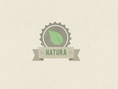 Leaf Icon texture leaf photoshop ribbon badge illustrator banner vicbell earthy logo brown icon vector natural farm earth green illustration
