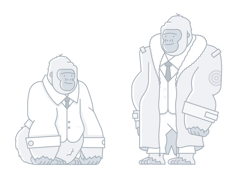 Errol illustration geometric monkey suit character mod gorilla