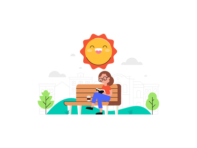 Have A Nice Day park illustration book nooklyn city sun day nice