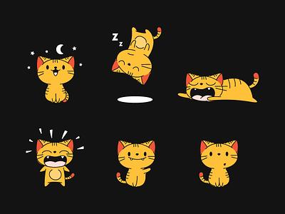 Nookie sleeping york new mascot cat nookie illustration nooklyn