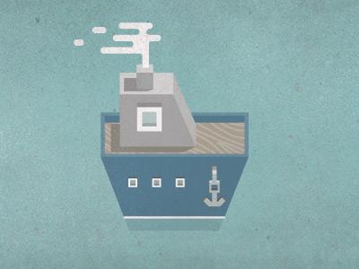 Boat photoshop sea ocean illustration vector illustrator texture blue steam anchor boat