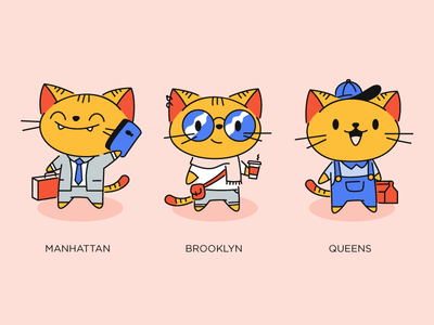 Select A City city brand illustration cat brooklyn new york nooklyn