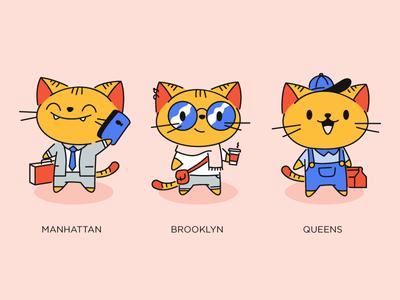 Select A City city brand illustration cat brooklyn new york nooklyn