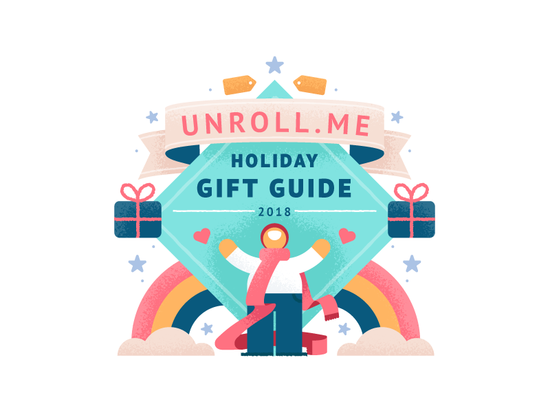 Holiday Gift Guide winter character illustration texture guide gift holiday me unroll unroll.me