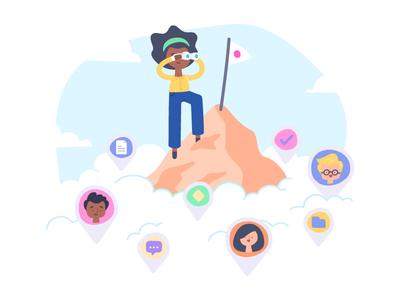 Teamwork Illustration Rebranding