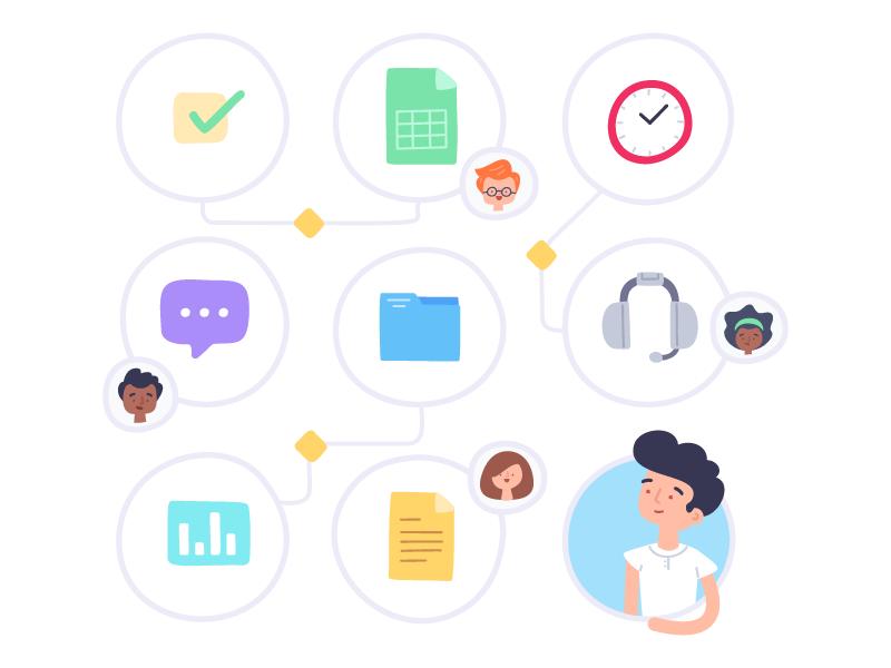 Teamwork: Managing Resources overview management project teamwork illustration