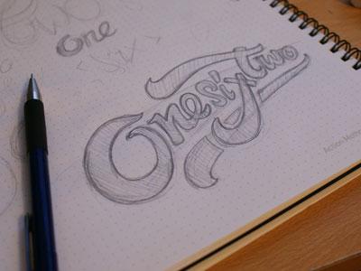 OneSixTwo Type Concept type sketch concept custom idea brand logo