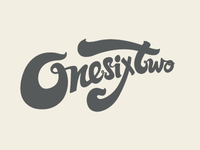 OneSixTwo type custom vicbell logo vector typography brand one two six