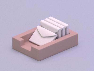 Inbox blender illustration inbox 3d