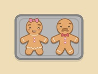 Gingerbread girl and boy