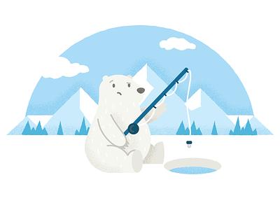 Bear Exploration notes bear app bear branding character vector illustration