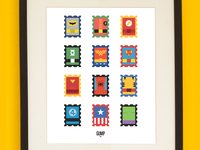 Super Stamps Poster