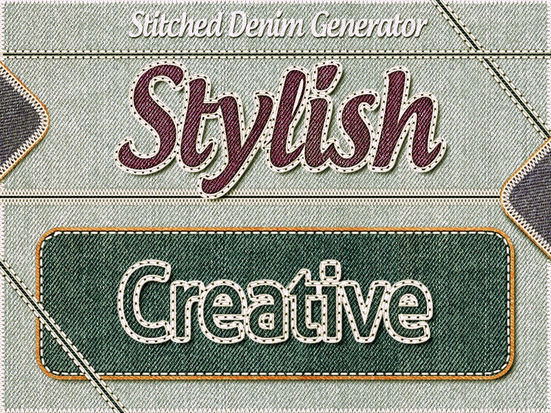 Stitched Denim Generator denim generator generator time saver photoshop action