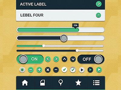 Leather App UI Kit leather app ui kit app app ui ui ui kit leather ui