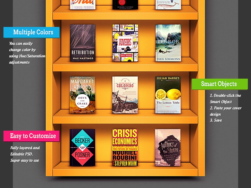 Bookshelf Mockup Book Covers Shelf Trophy Case Free Psd Give Away