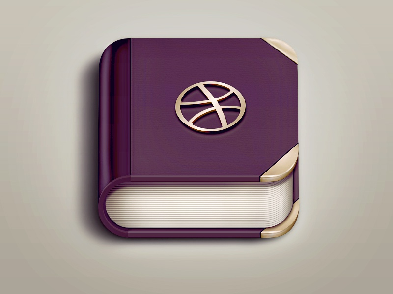 Free Book App Icon book app icon book app icon design icons book icon logo dribbble metal book cover