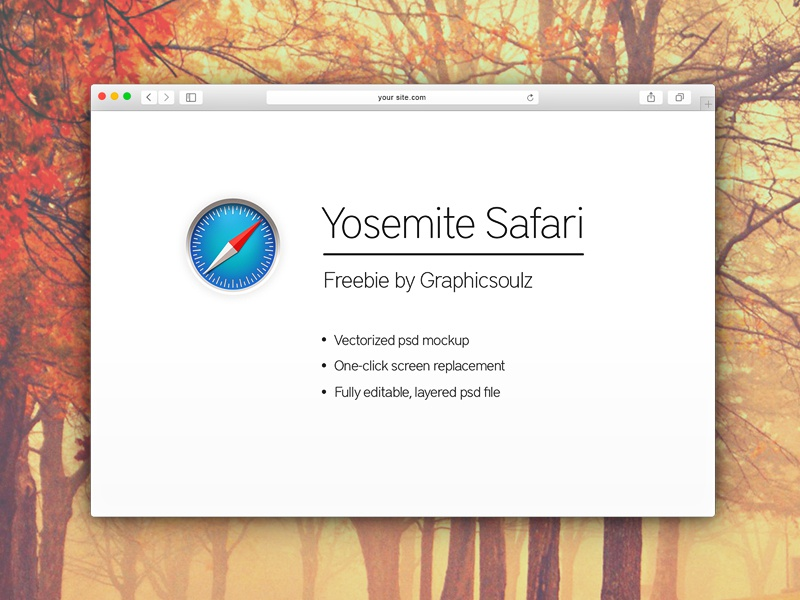 Free Yosemite Safari Mockup yosemite safari mockup freebie browser safari mockup yosemite safari mockup free psd