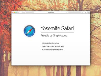 Free Yosemite Safari Mockup