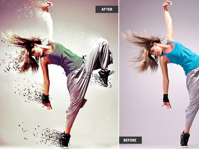Photoshop Action photoshop action scatter dynamic particles psd action scattering