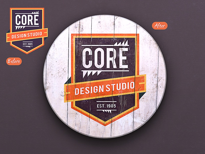 painted logo mockup by graphicsoulz dribbble