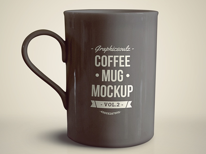 coffee mug mockup by graphicsoulz dribbble. Black Bedroom Furniture Sets. Home Design Ideas