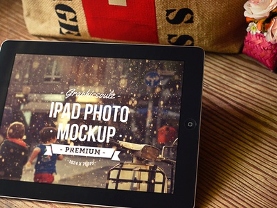 iPad Photo Mockup ipad mockup ipad mockup tablet psd photo mockup gift wood table label