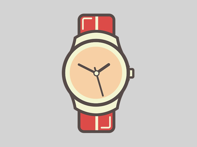 Wrist watch by graphicsoulz dribbble for Cartoon watches