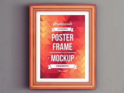 Poster Frame Mockup background abstract background ribbon wall label psd artwork flyer mockup poster mockup frame mockup poster