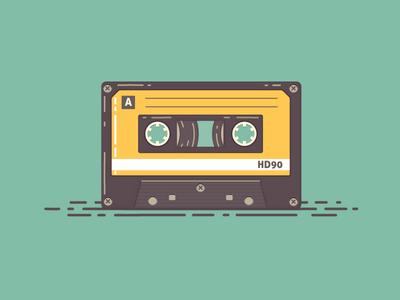 Audio Cassette music icon icon design icons audio cassette audio cassette mixtape flat flat icons