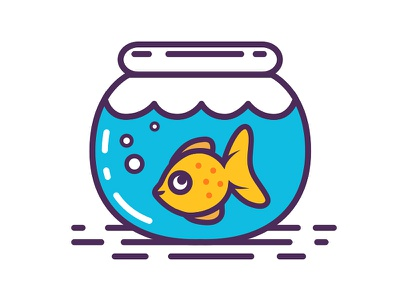 Goldfish Icon goldfish icon icon design icons fish illustration pets fish icon