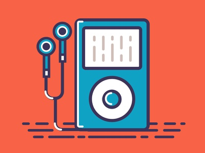 iPod ipod icons icon design flat icons flat hipster music icon music sound