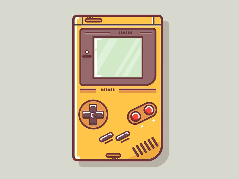 Gameboy game gaming game controllers nes super nes gameboy icons illustrations nintendo