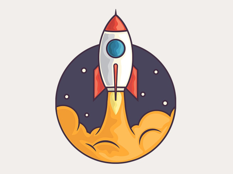 Rocket rocket illustrations icons icon design fly shuttle space spacheshuttle stars transportation icon
