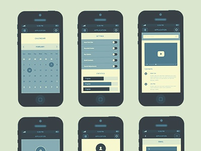 iPhone App Wireframe Kit – Vol.2 wireframe iphone app wireframes wireframes app wireframes app ui wireframes psd