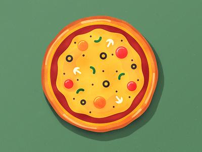 Pizza pizza illustration icon icon design pizza icon food