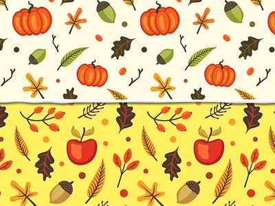 Patterns vector vector patterns fruit autumn patterns autumn patterns