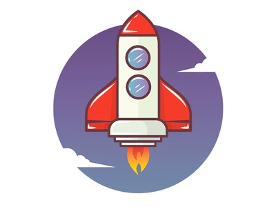 Rocket transportation icon stars spacheshuttle space shuttle fly icon design icons illustrations rocket