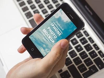 iPhone Photo Mockup - Vol.5 apps app design photo mockup psd iphone mockup macbook books photo mockup iphone