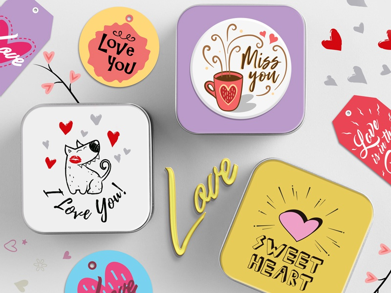 Happy Valentine's Day cards greeting cards love icons cute illustrations love love typography valentine illustrations valentines day cards valentine