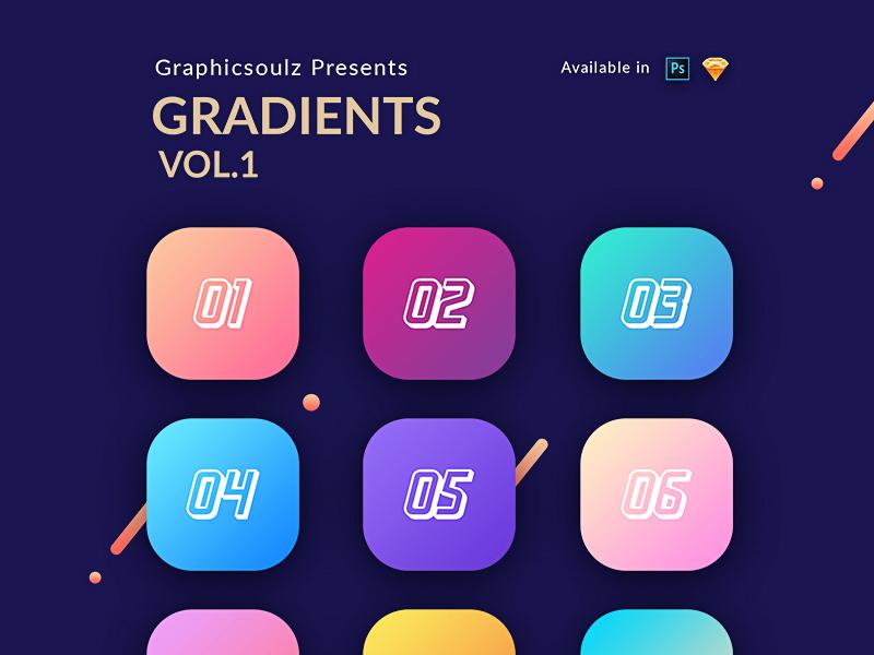 Gradients iphone ipad sketch ios gradients gradient photoshop gradients android app design