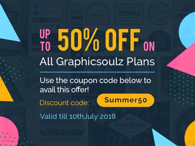 Huge Summer Discount freebies resources textures illustration logo badges big discount free 50 off summer discount discount