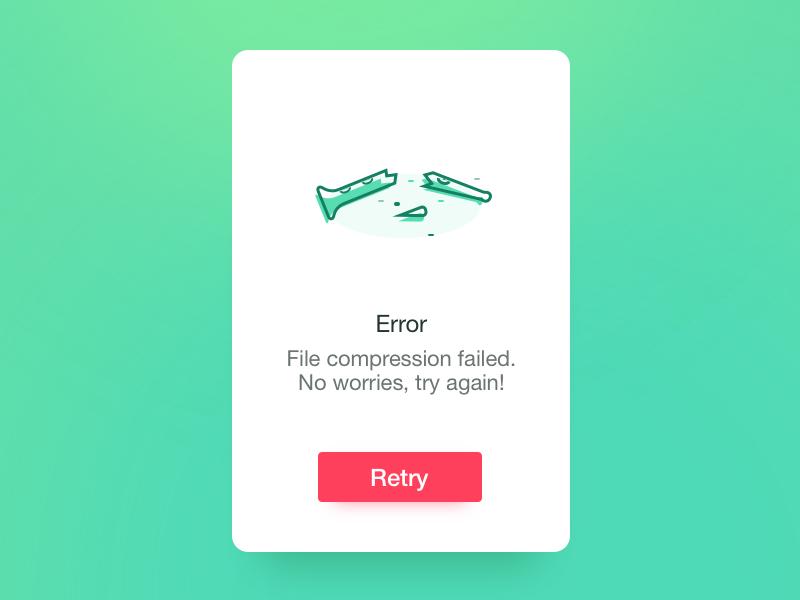 PiedPiper Flash Message - Daily UI #11 retry illustration pipe error daily ui pied piper