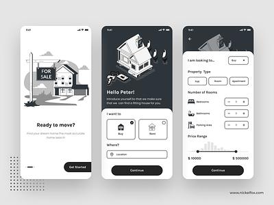 Property app typography webdesign splash login houses property rent house rent house product design branding logo dashboard website web clean uidesign minimal app design