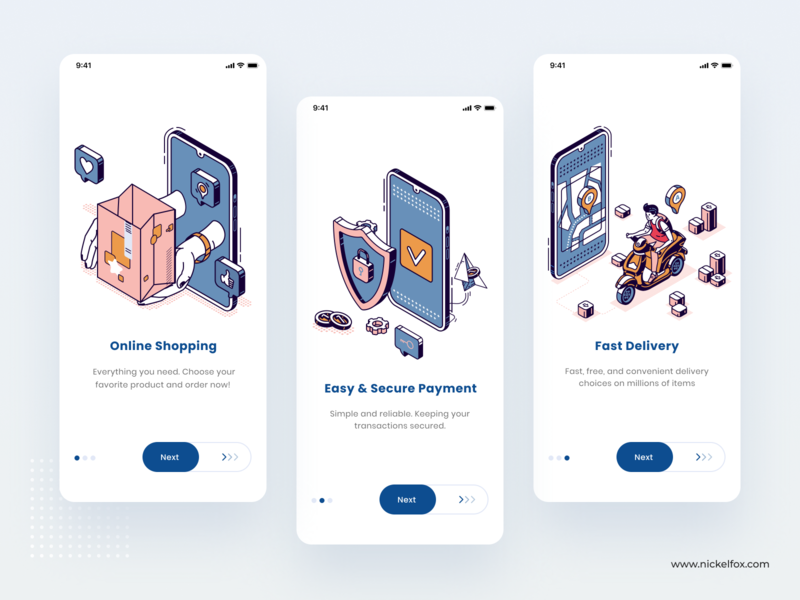 Onboarding Exploration screens graphics product design branding walkthrough onboarding screen shopping onboarding vector color typography dashboard website web illustration clean uidesign minimal app design
