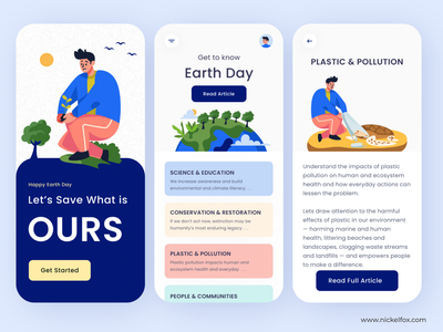 Happy Earth Day - Exploration nature earth app design app weeklywarmup flat icon typography clean minimal branding logo illustration website service startup ux ui web product