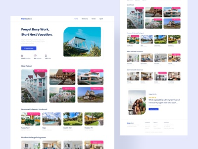 #Exploration Website Staycation design ui traveling webdesign