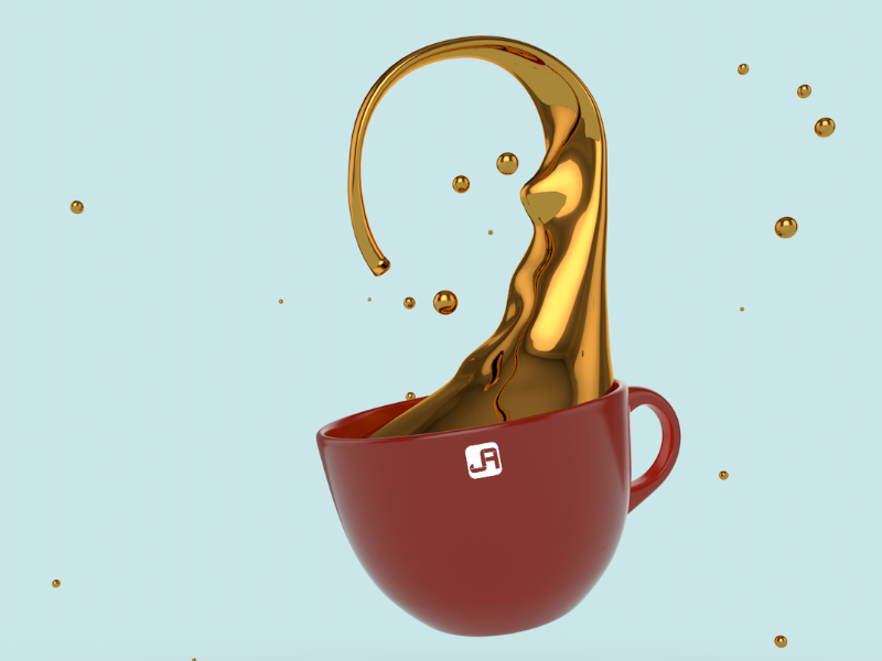 Gold Coffee gold coffee 3dmodeling 3d cinema4d